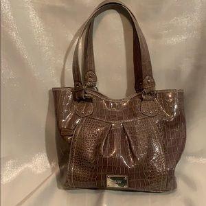 Nine West brown metallic shoulder bag